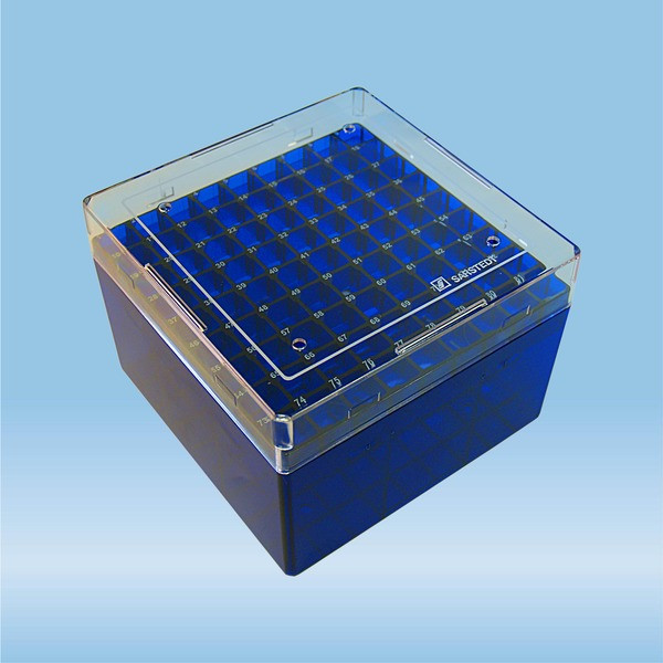 Cryobox, 132 x 132 x 95 mm, format: 9 x 9, for 81 collection tubes