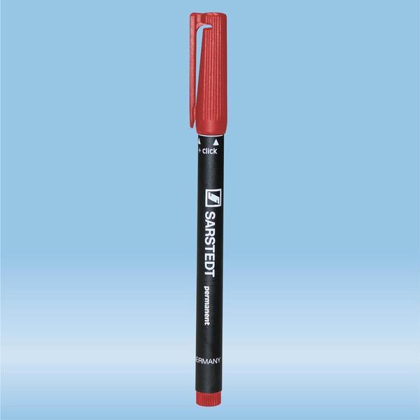 Felt marker, red, waterproof