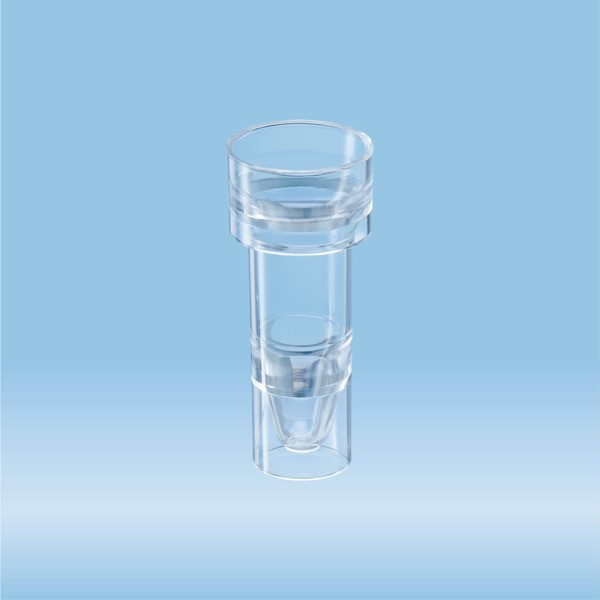 Sample tube, suitable for Hitachi analyser, transparent