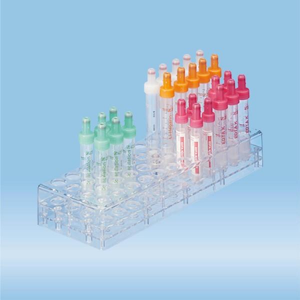 Rack, PC, format: 12 x 4, suitable for tubes, S-Monovettes 11 mm Ø