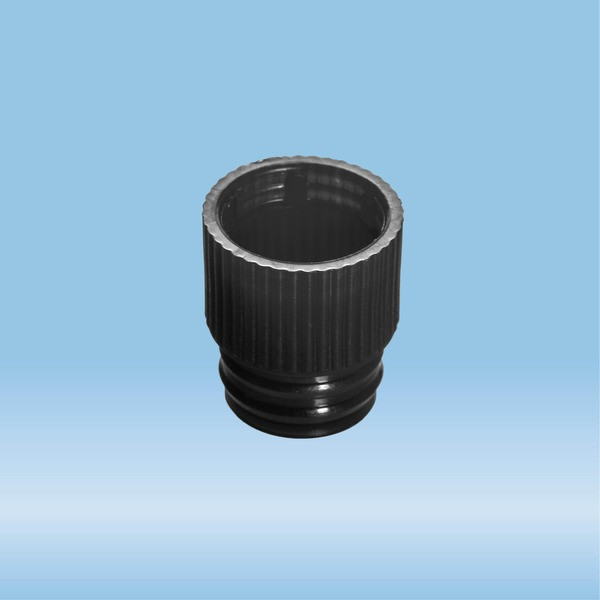 Push cap, black, suitable for tubes Ø 13 mm