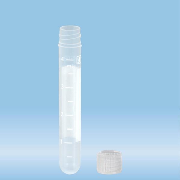 Screw cap tube, 4.5 ml, (LxØ): 75 x 12 mm, PP, with print