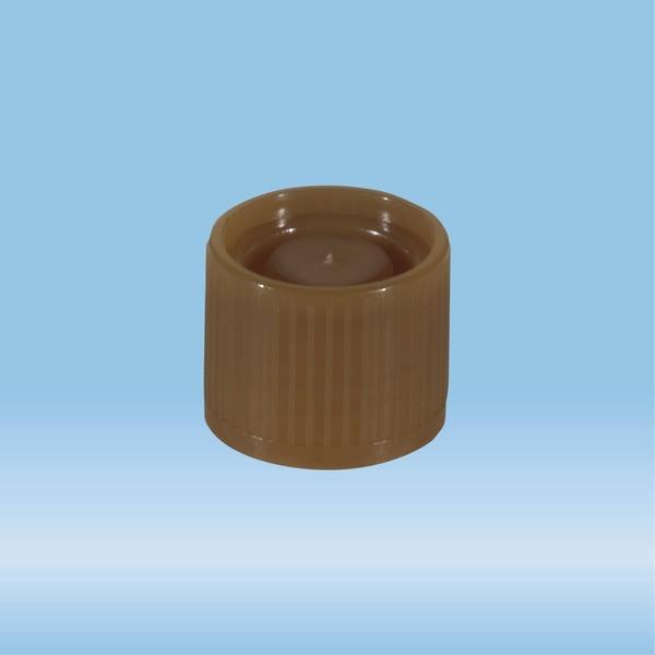 Screw cap, brown, suitable for tubes Ø 16-16.5 mm