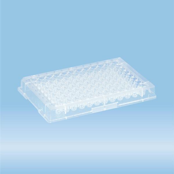 ELISA plate, 96 well, round base, PS, transparent, Medium Binding