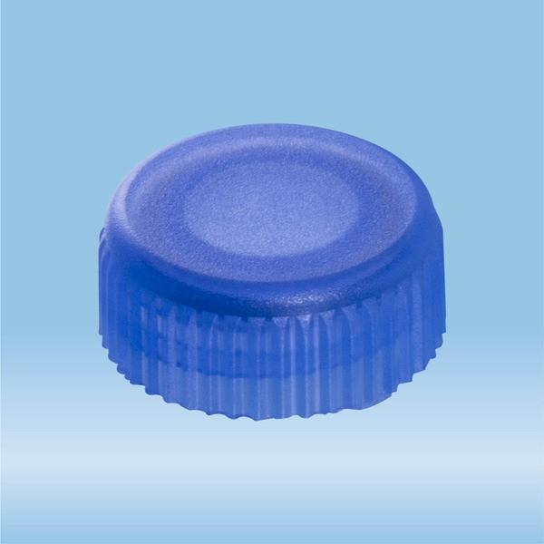 Screw cap, blue, suitable for screw cap micro tubes