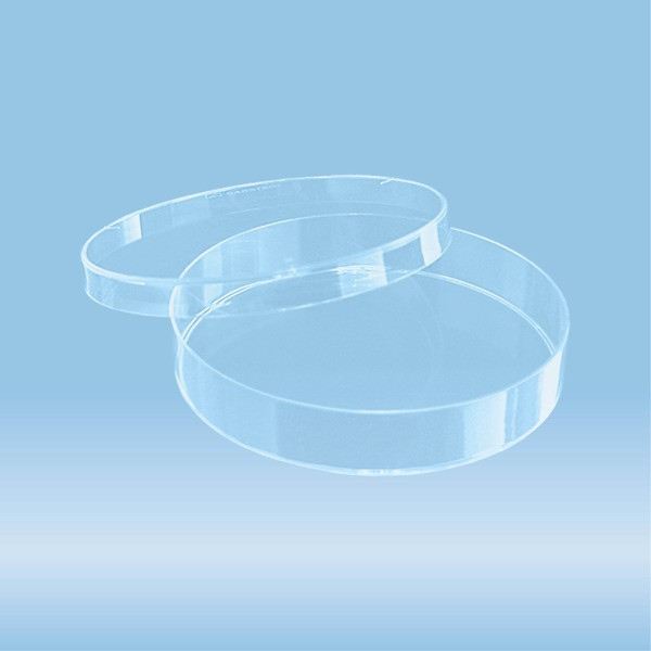 Petri dish, 92 x 16 mm, transparent, with ventilation cams