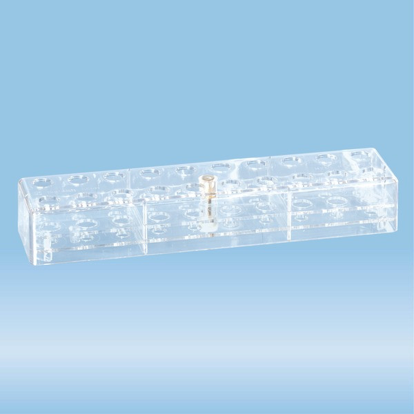 Rack, PC, suitable for tubes, S-Monovettes 13 mm and 11 mm Ø