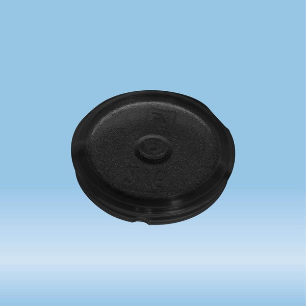 Colour-coded inserts, black, PP, suitable for screw caps 65.716.xxx