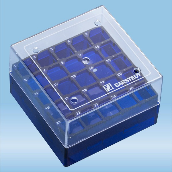 Cryobox, 75 x 75 x 52 mm, format: 5 x 5, for 25 collection tubes