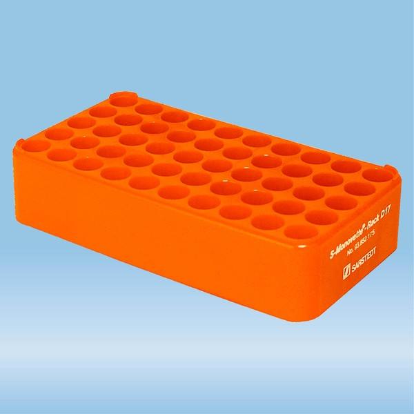 S-Monovette® rack D17, Ø opening: 17 mm, 10 x 5, orange