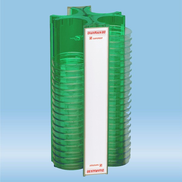 DishRack, height: 370 mm, green, for 88 petri dishes with 92mm Ø