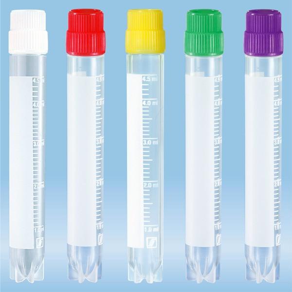 CryoPure tubes, 5 ml, Quickseal screw cap, colour mix