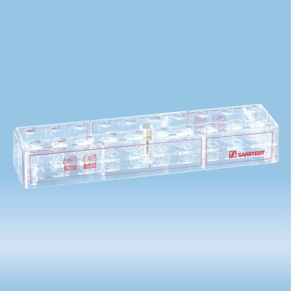 Rack, PC, suitable for screw cap micro tubes