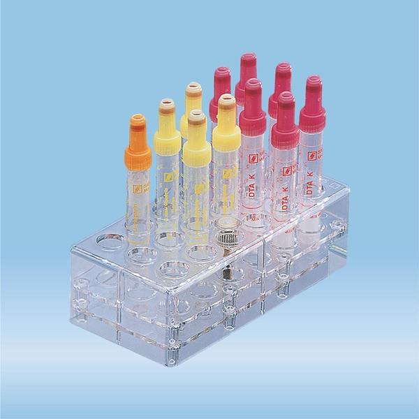 Rack, PC, format: 6 x 3, suitable for tubes, S-Monovettes 11 mm Ø