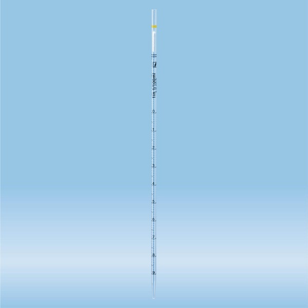 Serological pipette, plugged, 1 ml, sterile, 25 piece(s)/bag