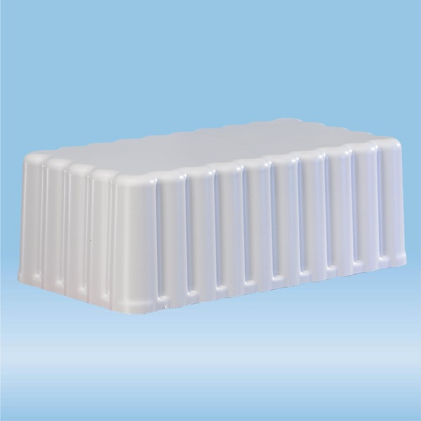 Protective cover, ABS, light grey, suitable for Block rack D17