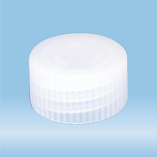 Screw cap, natural, suitable for tubes and S-Monovettes Ø 13 mm