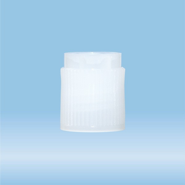 Screw cap, PE, natural, for tubes 75 x 13 mm