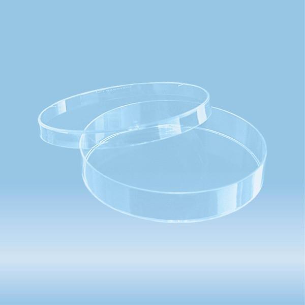 Petri dish, (ØxH): 92 x 16 mm, transparent, with ventilation cams
