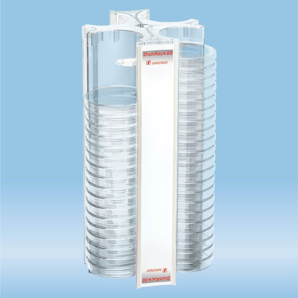 DishRack, height: 370 mm, transparent, for 88 petri dishes with 92 mm Ø