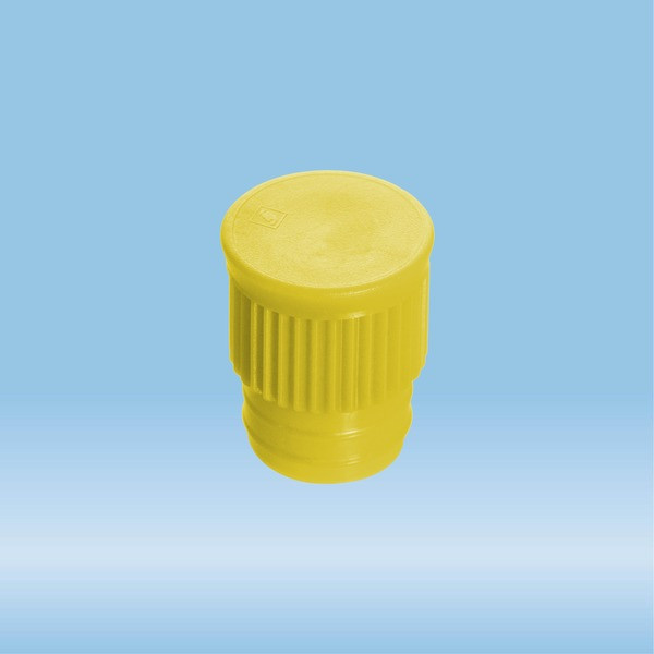 Push cap, yellow, suitable for tubes Ø 15.7 mm