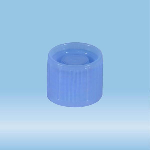 Screw cap, blue, suitable for tubes Ø 16-16.5 mm