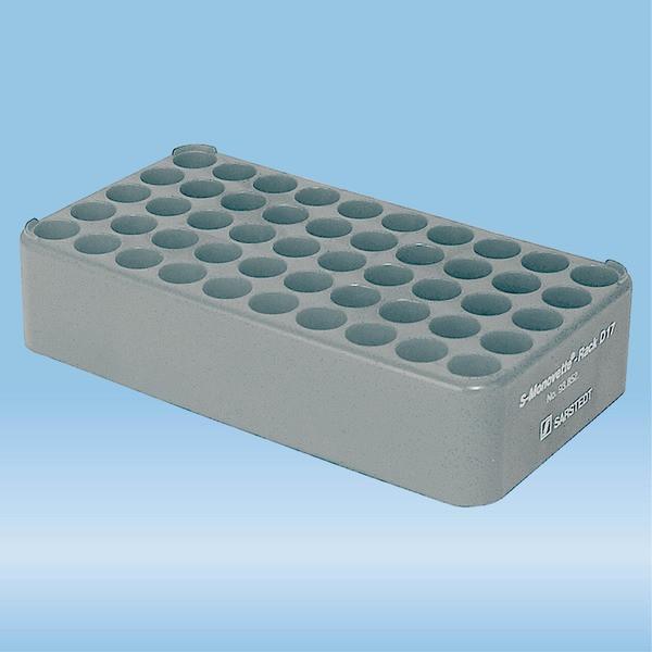 S-Monovette® rack D17, Ø opening: 17 mm, 10 x 5, grey