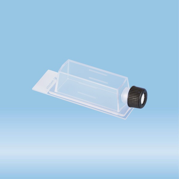 x-well cell culture chamber, Flask, on glass slide, removable frame