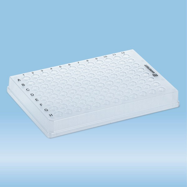 PCRplate full skirt, 96 well, transparent, Low Profile, 100 µl, PCR Performance Tested, PP