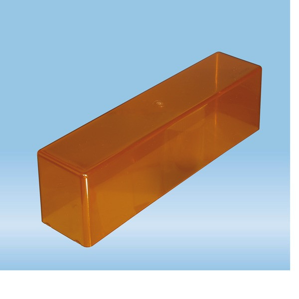 Protective cover, PC, brown, 256 x 62 x 72 mm, suitable for stand no 93.1097.100