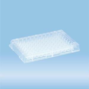 ELISA plate, 96 well, flat base, PS, transparent
