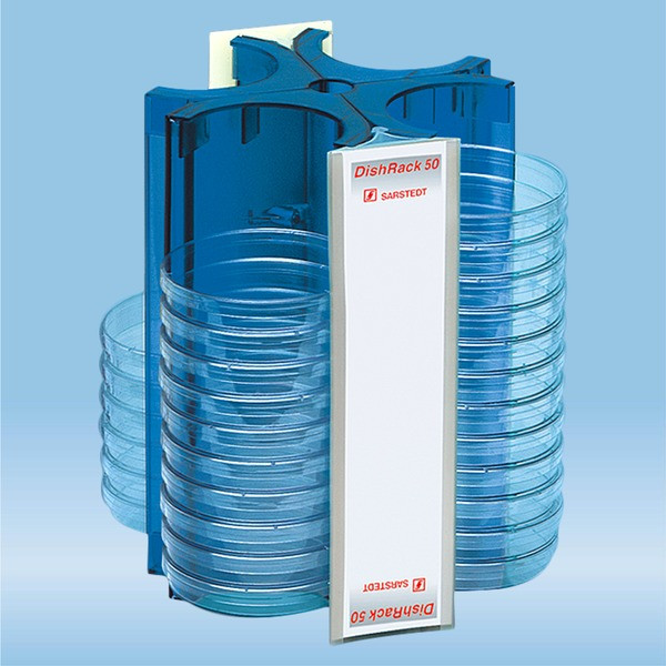 DishRack, height: 240 mm, blue, for 52 petri dishes with 92 mm Ø
