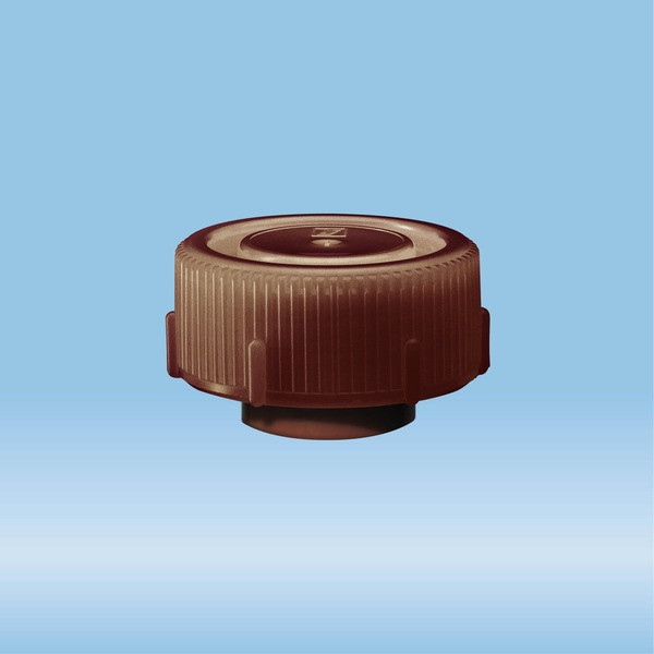 Screw cap, brown, suitable for protective container 126 x 30 mm