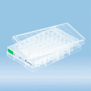 Cell culture plate, 48 well, surface: Suspension, flat base