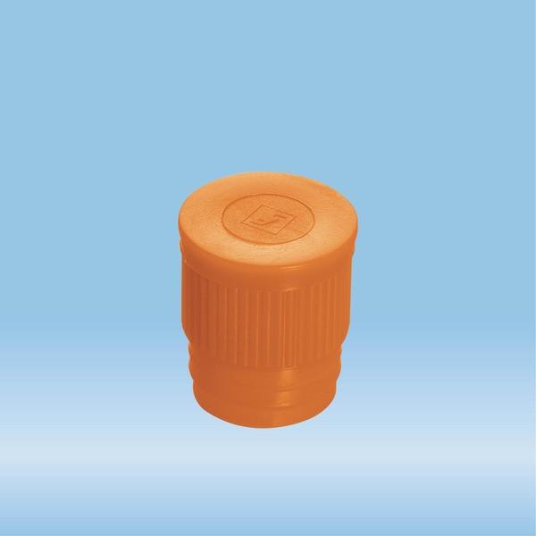 Push cap, orange, suitable for tubes Ø 16-17 mm