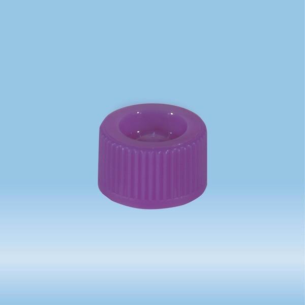 Screw cap, purple, suitable for tubes 82 x 13 mm