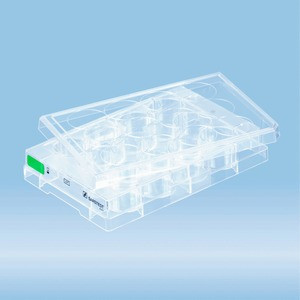 Cell culture plate, 12 well, surface: Suspension, flat base