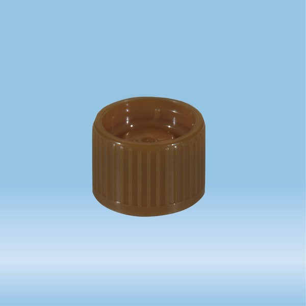 Screw cap, brown, suitable for tubes Ø 15.3 mm