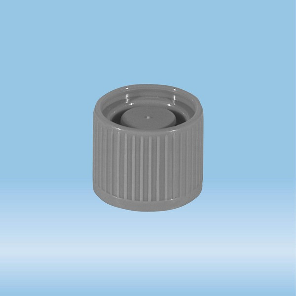 Screw cap, grey, suitable for tubes Ø 16-16.5 mm