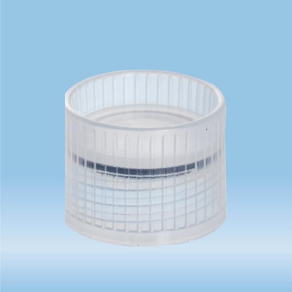 Screw cap, natural, suitable for tubes Ø 16.5 mm