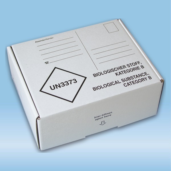 Post transport packaging, 192 x 146 x 75 mm, for cold transport container