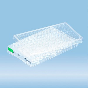 Cell culture plate, 96 well, surface: Suspension, flat base