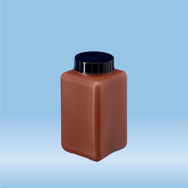 Urine container, 0.5 l, brown, with light protection