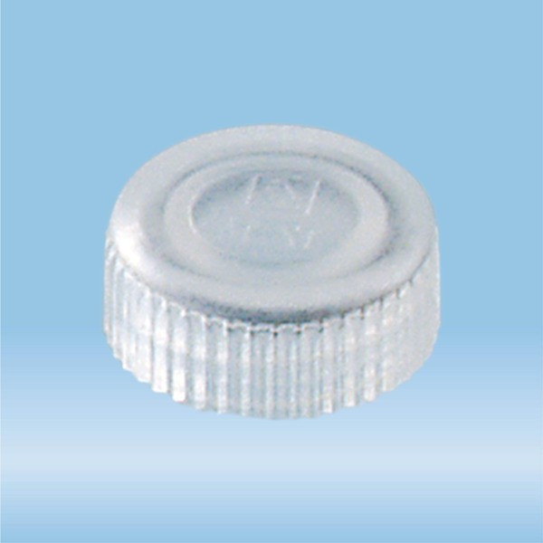 Screw cap, natural, suitable for screw cap micro tubes
