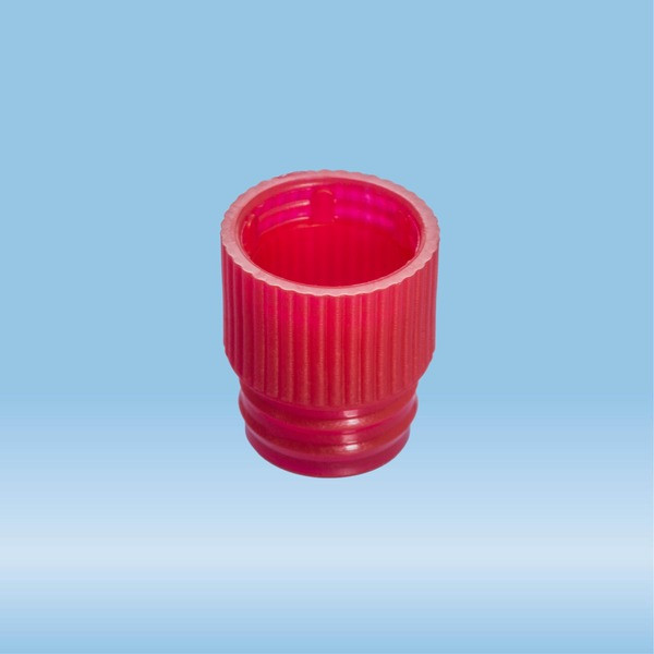 Push cap, red, suitable for tubes Ø 13 mm