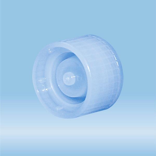 Archiving screw cap, light blue, suitable for tubes Ø 15 mm