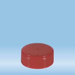 Screw cap, red, suitable for tubes Ø 28 mm