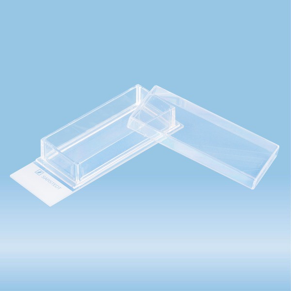 x-well cell culture chamber, 1-well, on glass slide, removable frame