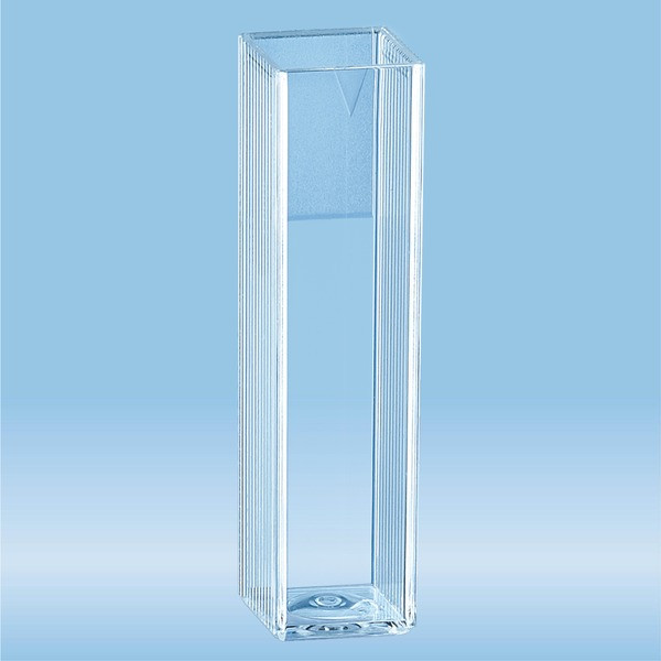 Cuvette, 4.2 ml, (HxW): 45 x 12 mm, PS, transparent, optical sides: 2