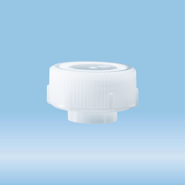 Screw cap, natural, suitable for protective container 126 x 30 mm